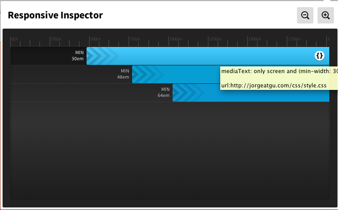 css responsive inspector