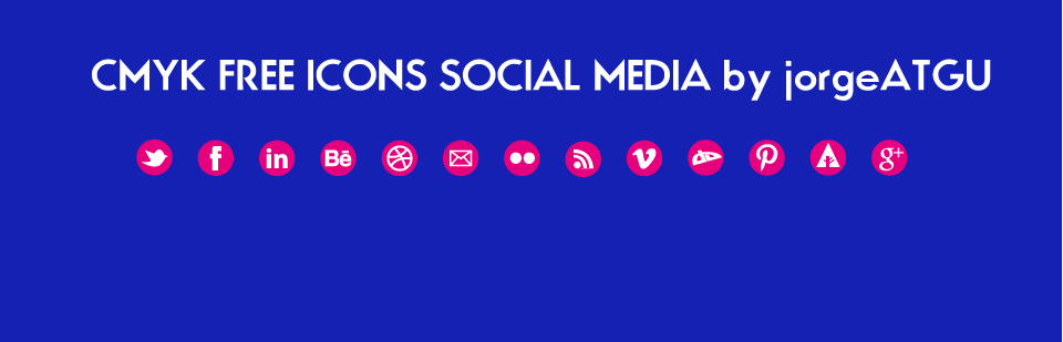 magenta icons social pixel media vector svg
