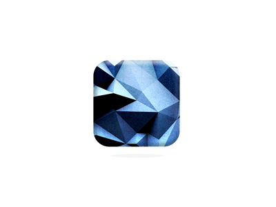 blue ios icon